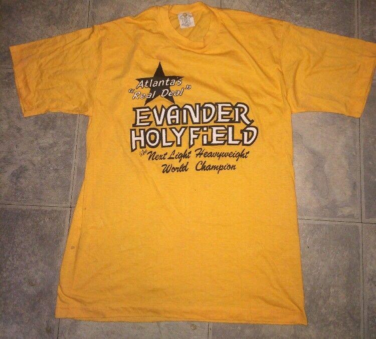 VTG Atlanta's Real Deal Evander Holyfield Heavyweight Champion Shirt Uomo's Shirt Champion XL 46dfcd