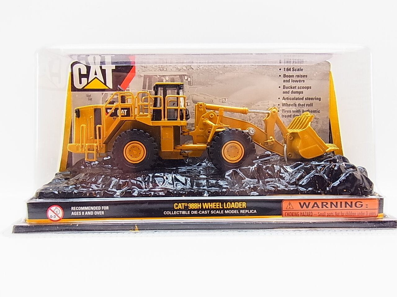 Lot 32525   NORSCOT CAT 988 H Wheel Loader chargeur les-Cast-Modèle 1 64 Nouveau neuf dans sa boîte
