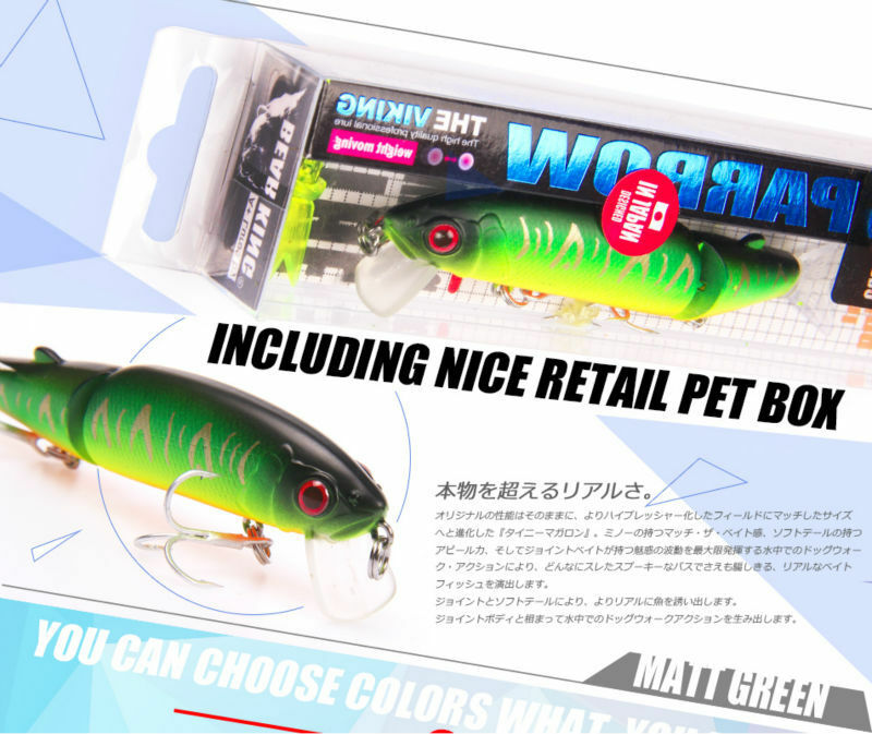 LOT OF 4 BEARKING FISHING LURES WITH SILICONE TAIL MINNOW BAIT 13.7 Gr , 11.3 Cm