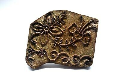 Brilliant Indian Handcrafted Vintage Fine Textile Printing Block-art Work Block I77-121 Au Relieving Rheumatism Asian Antiques Other Asian Antiques