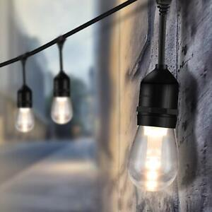 Details About 48ft Led Patio String Lights 1 5w Dimmable Vintage Edison Bulbs For Garden Party
