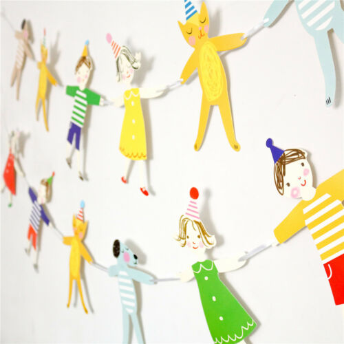 kids hand in hand banner paper garland hanging bunting birthday party diy decor