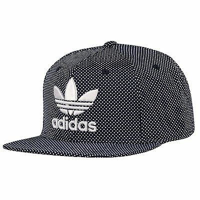 ADIDAS B94099 Trefoil DOTTED Snapback HAT Cap, COLLECGIATE Navy / White OSFA