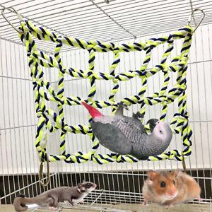 Parrot-Net-Pet-Bird-Swing-Hanging-Hammock-Perch-Toys-Hamster-Rope-Ladder-Cage