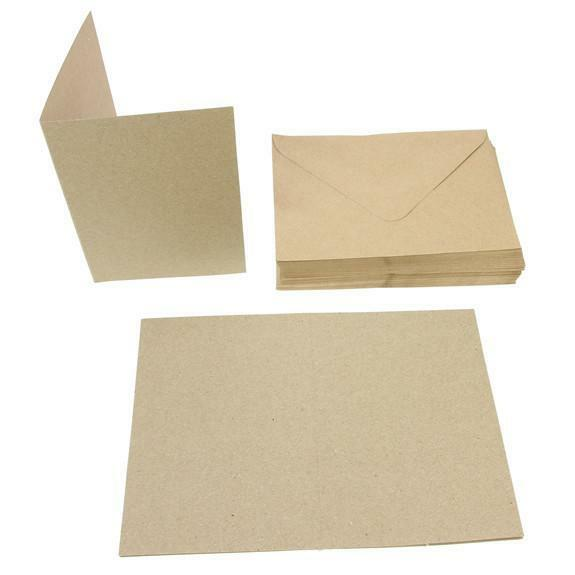 Envelopes 5x7 Brown Kraft x 250 Brown Recycled Kraft Card Blanks Papermania Docrafts