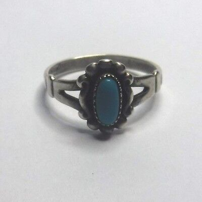 Southwestern Bell Trading Sterling Silver Turquoise Band Ring Sz 6 1/4