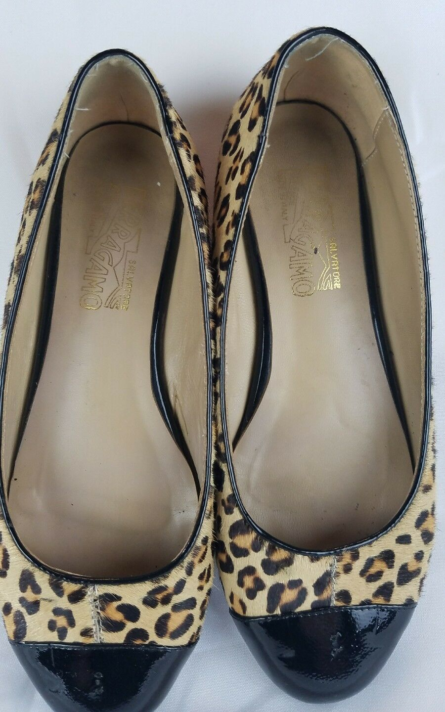 Salvatore Ferragamo women 38 38 38 Varina ballet flats animal print calf Hair  7ea5ed