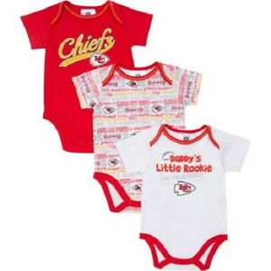 finest selection 4c979 48160 Details about (3) Kansas City KC Chiefs nfl INFANT BABY NEWBORN Jersey  Shirt (3-6M 3-6 Months)
