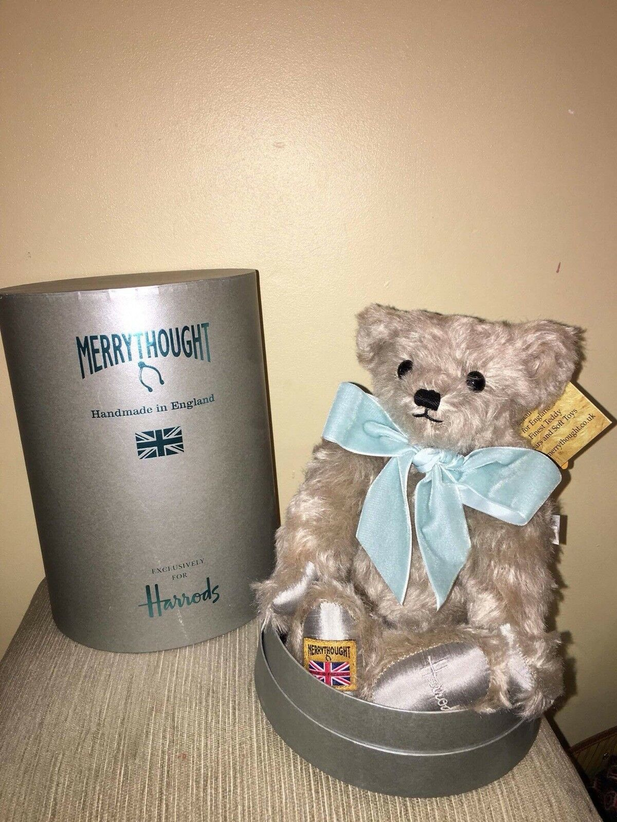 HARRODS NATALE ORSO Enorme 2016 Merrythought LIMITED EDITION DA COLLEZIONE