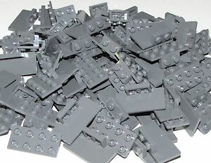 Lego Lot of 100 New Dark Bluish Gray Brackets 1 x 2-2 x 4 Pieces Parts