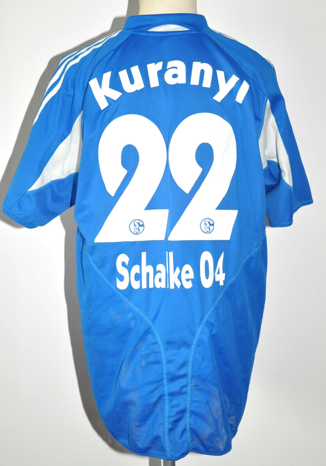 2004-05 S04 Schalke 04 Trikot  22 Kuranyi Gr.XL Adidas Home RAR blau weiß Jersey