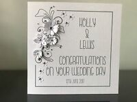 Personalised Handmade Wedding Anniversary Congratulations Card - Card Confetti