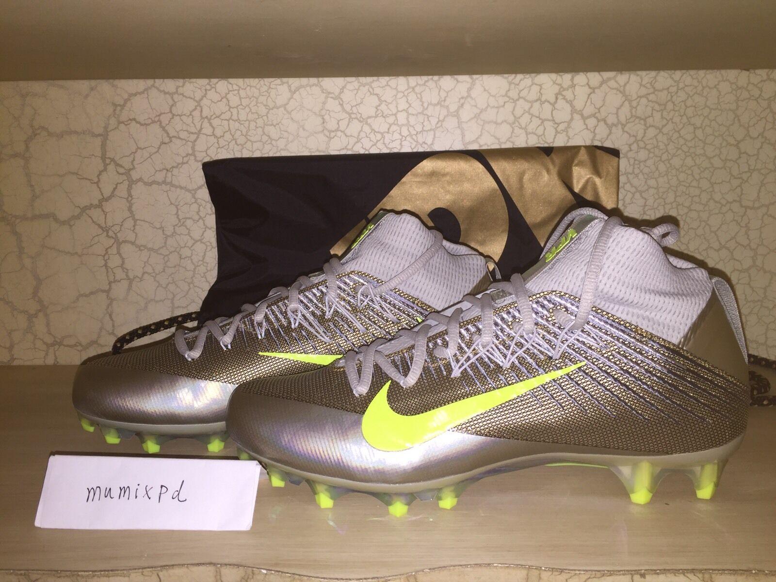 Nike Vapor Untouchable 2 Wolf Grey Platinum Volt 824470-010 Football elite 9.5