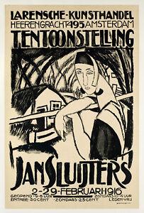 Original-Vintage-Poster-J-Sluijters-Post-Impressionist-Amsterdam-1916
