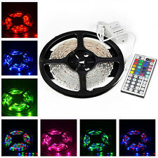 5M 3528 RGB LED Streifen SMD LED Leiste Lichterkette +44 Tasten IR Fernbedienung