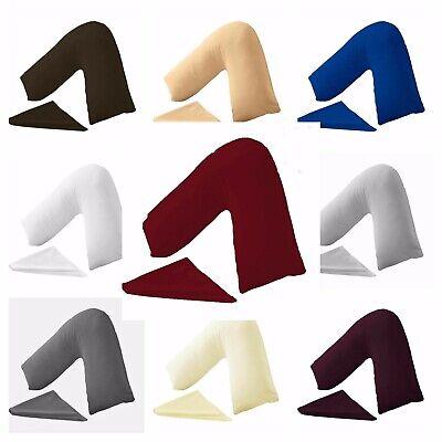 Plain Dyed Poly-cotton Back /& Neck Support Orthopedic V Shaped Pillowcase Plum