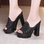 Women-Hollow-Out-Mesh-Sandals-Platform-High-Heel-Wedge-Stiletto-Shoes-Slip-On thumbnail 1