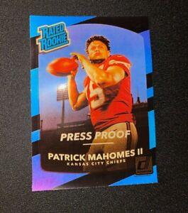 2017 Donruss Press Proof Black Patrick Mahomes Rated Rookie RC *STICKER* *READ*