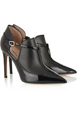 New 100% VALENTINO MATTE AND PATENT-LEATHER ANKLE BOOTS in 8,5