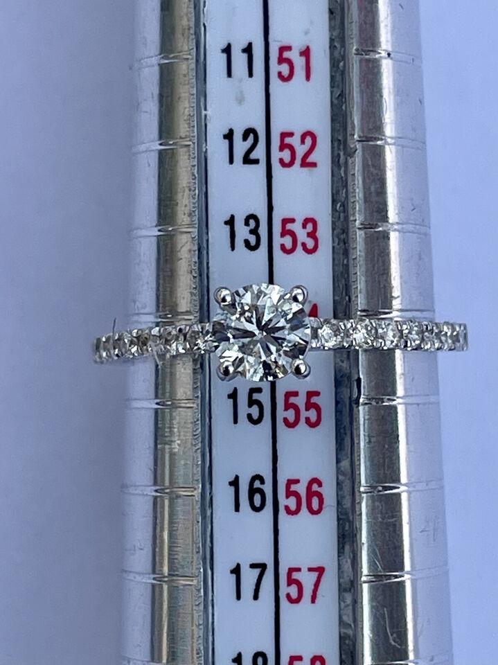 Ny 1.0 Ct Pave 6 Prong Round Cut Diamond Engage...