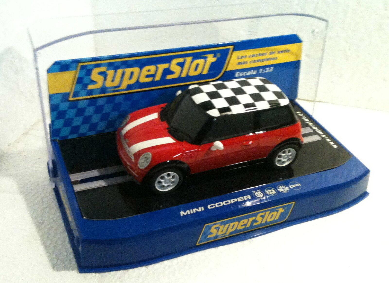 Qq H 2881 SUPERSLOT MINI COOPER ROAD CAR rojo - Scalextric UK