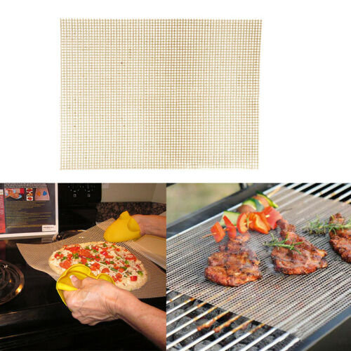 BBQ Mat Mesh 1 Pcs Non Stick Teflon Cooking Grilling Sheet Liner Fish New LO