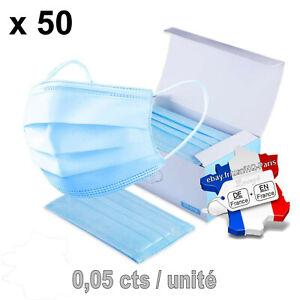 Lot de 50 masques chirrurgicaux (masque chirrurgical) protection 0,05cts/unité
