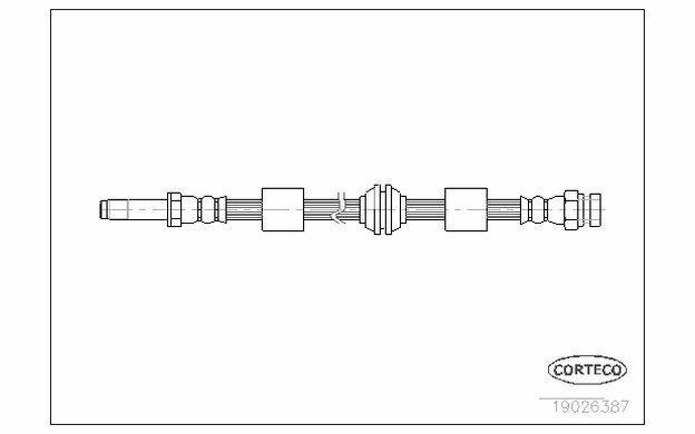 CORTECO Flexible de frein Avant pour FORD GALAXY VOLKSWAGEN SHARAN 19026387