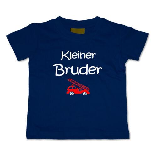 BABY T-Shirt Kleiner Bruder WUNSCHNAME Wahl: MOTIV Größe DUNKELBLAU NEU