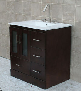 30 Bathroom Vanity 30 Inch Cabinet Ceramic Top With Integrated Sink