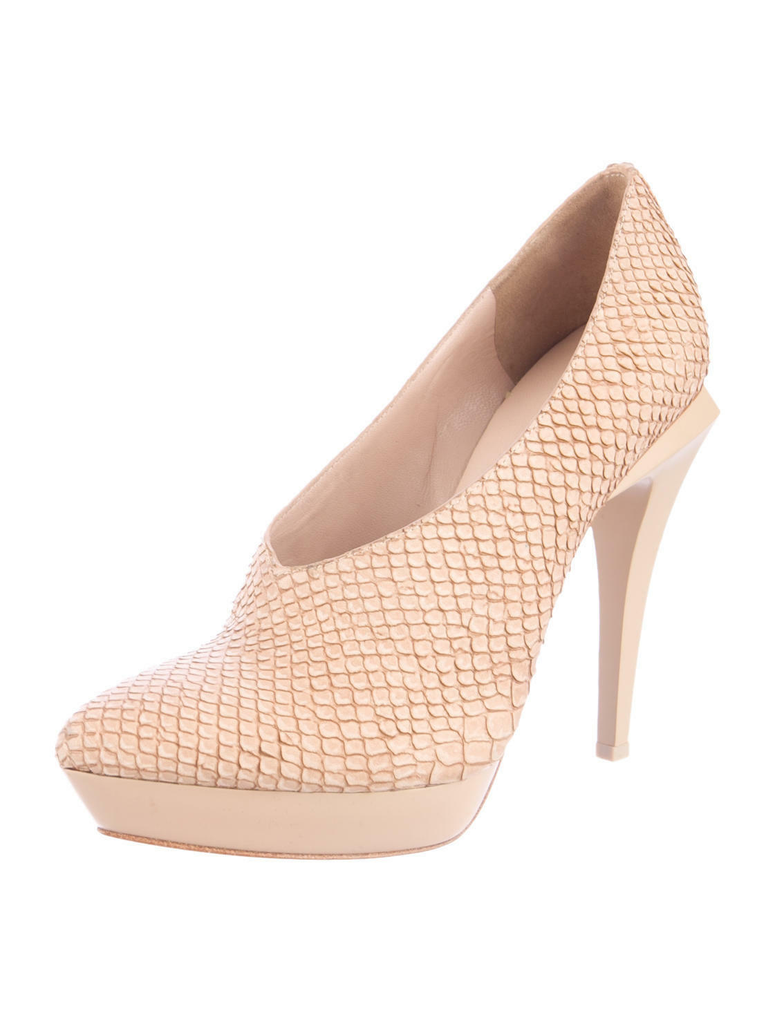 grande sconto GORGEOUS, SOLD OUT NWB BEIGE EMBOSSED LEATHER PUMPS BY ALEXANDER ALEXANDER ALEXANDER WANG  fino al 65% di sconto