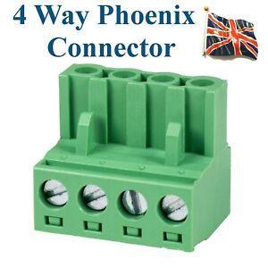 4-way-Phoenix-Connector-4-pin-Professional-Audio-input-UK-Stock