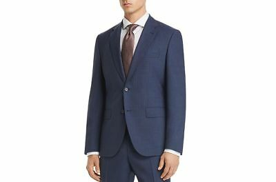 39c63b5ca3a $1095 HUGO BOSS Men's REGULAR Fit Wool BLUE CHECK SUIT JACKET SPORT COAT 42R