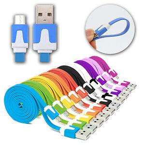 CABLE-PLANO-USB-MICRO-USB-PARA-SAMSUNG-HTC-LG-DATOS-CARGADOR-COLORES-1M-2M-3M