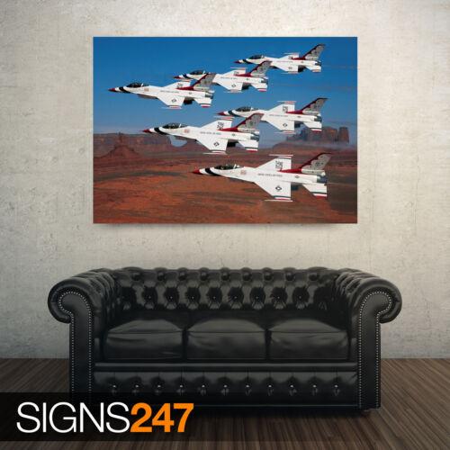Thunderbirds volando en Ejército Poster-Foto arte cartel impresión AC281 Todos los Tamaños