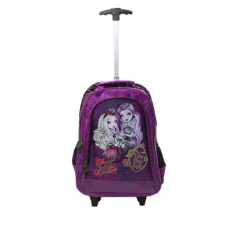 EVER AFTER HIGH SAC À ROULEAUX Sac à dos scolaire Trolley Officielle NEUF!