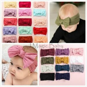 Baby-Girl-Cable-Knit-Nylon-Bow-Turban-Top-Knot-Headband-Newborn-Accessories