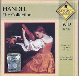 5-CD-Box-Cofanetto-HANDEL-THE-COLLECTION-nuovo-Classic-Gold