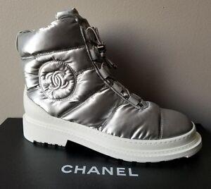 CHANEL ICONIC SILVER SKI ICE WALKING