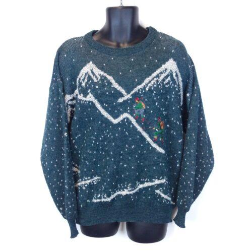 Vtg Collectif Men's Large Blue Wool Mountain Climb