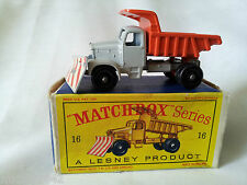Matchbox 16 Scammell moutaineer snowplough Lesney boite chasse neige