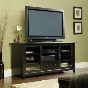 "59"" TV Stand Black Media Console Entertainment Storage Credenza"
