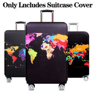 World-Map-Thicken-Luggage-Protector-Cover-Case-Suitcase-Elastic-DustCover-Travel
