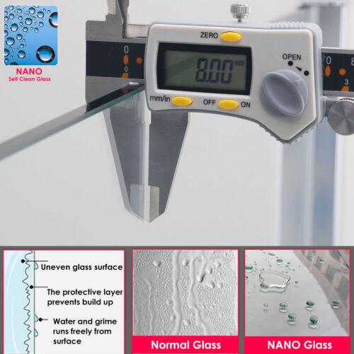 Walk in Shower Screen Enclosure 8mm Frosted Glass Door Panel 760 800 900 1000
