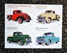 2016USA #5101-5104 Forever - Pickup Trucks - Block of 4  Mint ford ih chevrolet