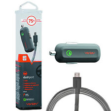 Ventev Qualcomm Dashport RQ1240 Mini Quick Charge Car Charger w/ Micro USB Cable