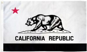 5b17a7ae Details about Black & White California State Flag 3x5 ft California  Republic Red Star Bear BW
