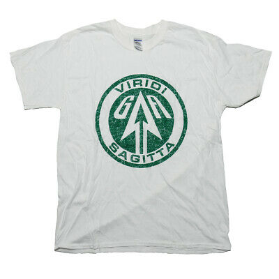 "UNISEX or LADIES FIT Official DC COMICS CW Green ARROW /""Viridi Sagitta/"" T-Shirt"