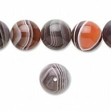 7808 Botswane Agate Premium Round Beads Black 12mm 16inch  *UK EBAY SHOP*