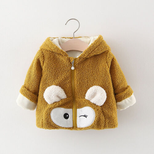Toddler Infant Baby Boy Girl Cartoon Long Sleeve Hoodie Winter Warm Clothes Coat